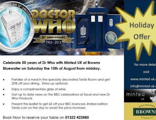DR WHO EVENT AT BROWNS BLUEWATER 10th AUG