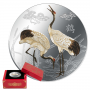 Feng Shui Cranes 1oz Silver