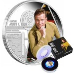 CAPTAIN JAMES T KIRK SILVER COIN