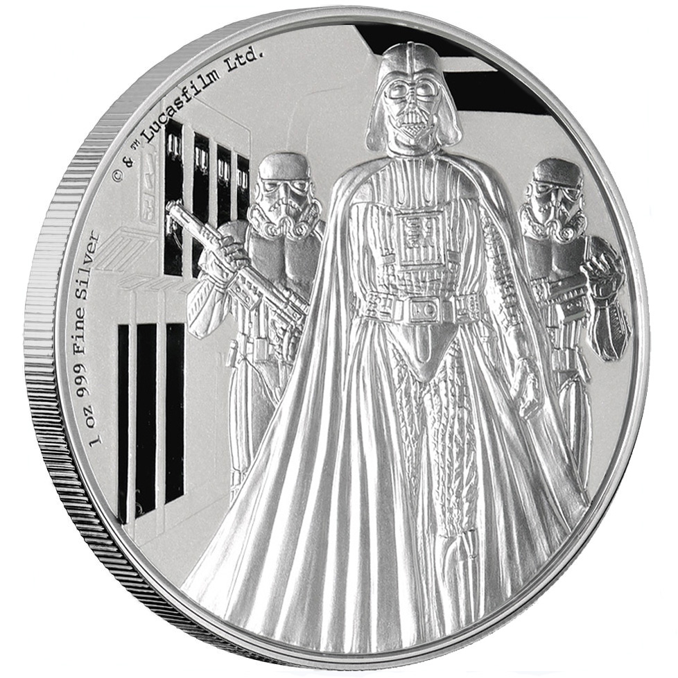Darth Vader 1oz Silver - Minted UK