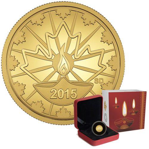2015 0.5 Gold Diwali coin