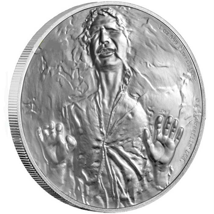 2016 Star Wars Han Solo 1oz Silver Coin