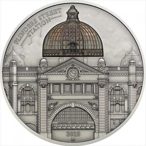 Flinders Station 62.2g Antiqued Silver