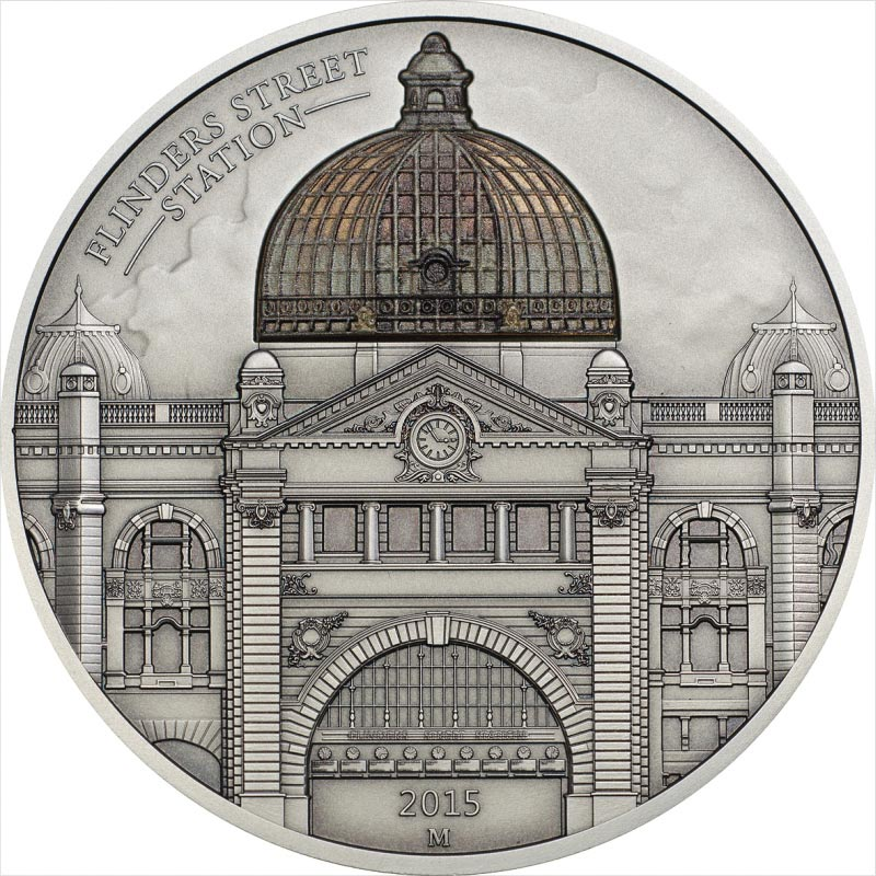 Flinders Station 62.2g Antiqued Silver