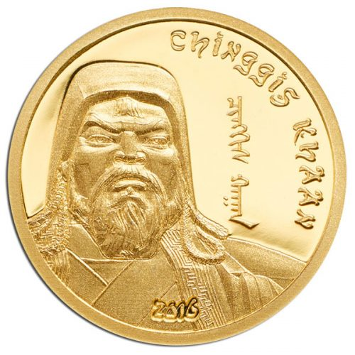 2015 Chinggis Khaan 0.5g gold proof coin