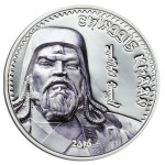 2016 Chinggin Khaan 1oz Silver Coin