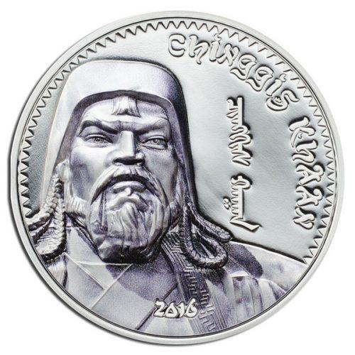 2016 Chinggin Khaan 1oz Silver Coin