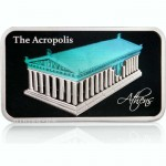 THE PARTHENON OF THE ACROPOLIS Holographic Proof Silver Coin