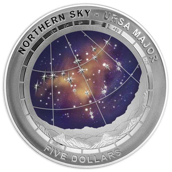 2016 Northern Sky Ursa Major 1oz Silver Proof Domed Coin