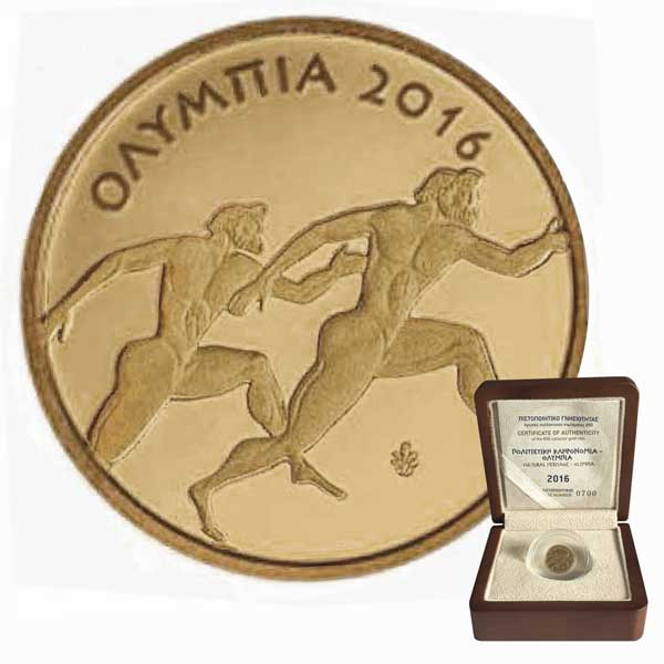 2016 Olympia 1g Proof 999 Gold Coin