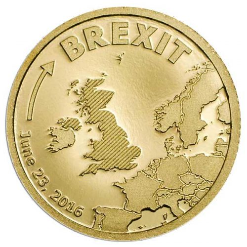 CIT 2016 BREXIT 0.5g 9999 Gold Proof Coin