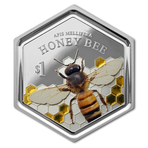 2016 New Zealand Honey Bee 1oz Silver Proof Coin