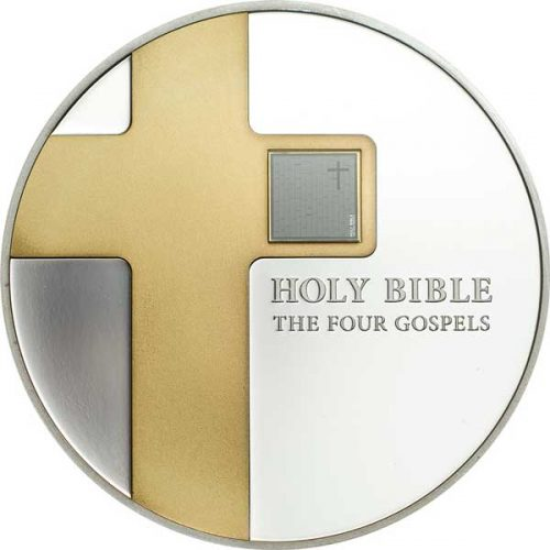 The Holy Bible - Four Gospels 1oz Gilded Silver