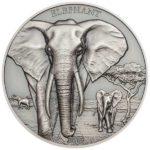 Elephant 1oz Antiqued Silver