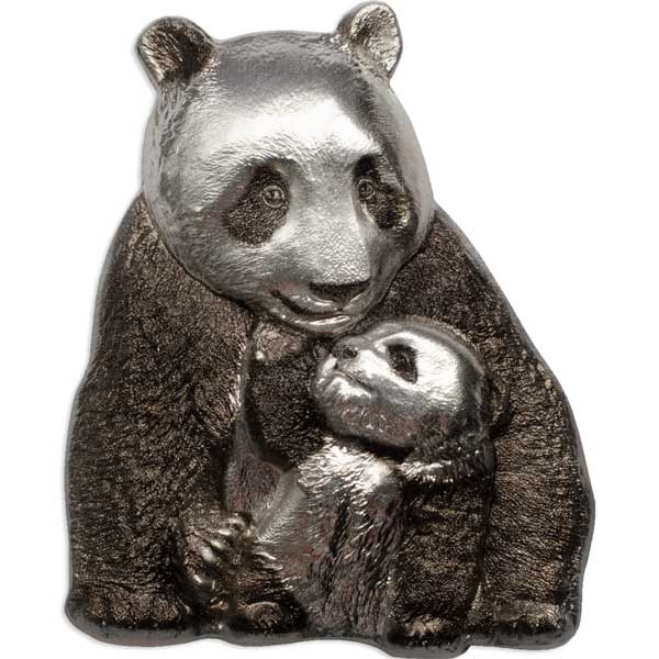 CIT 2017 Lucky Panda 88g Antiqued Silver
