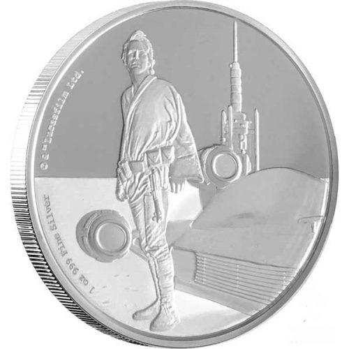 2017 Star Wars Classic Luke Skywalker 1oz Silver