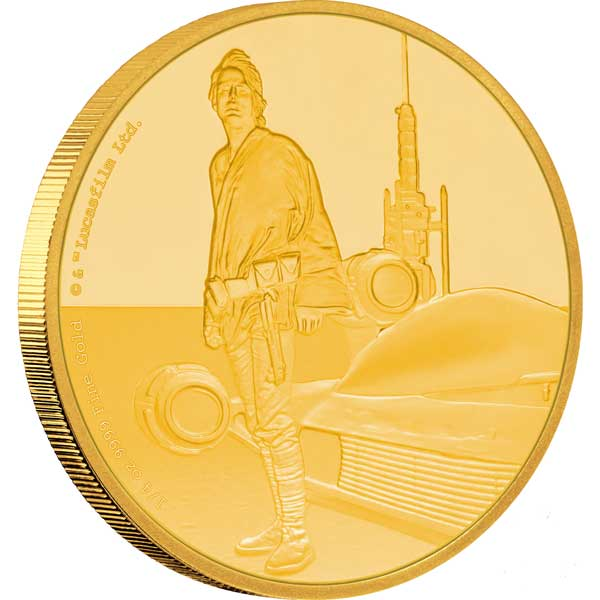 2017 Star Wars Classic Luke Skywalker 1/4oz Gold