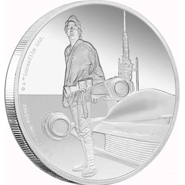 2017 Star Wars Classic Luke Skywalker 1oz Silver