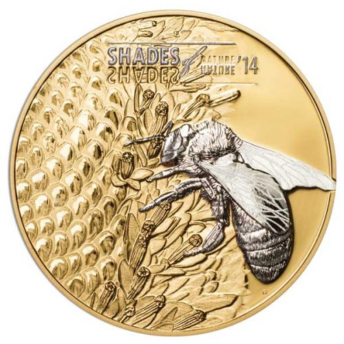 2014 Shades of Nature Bee 25g Gilded Silver Coin