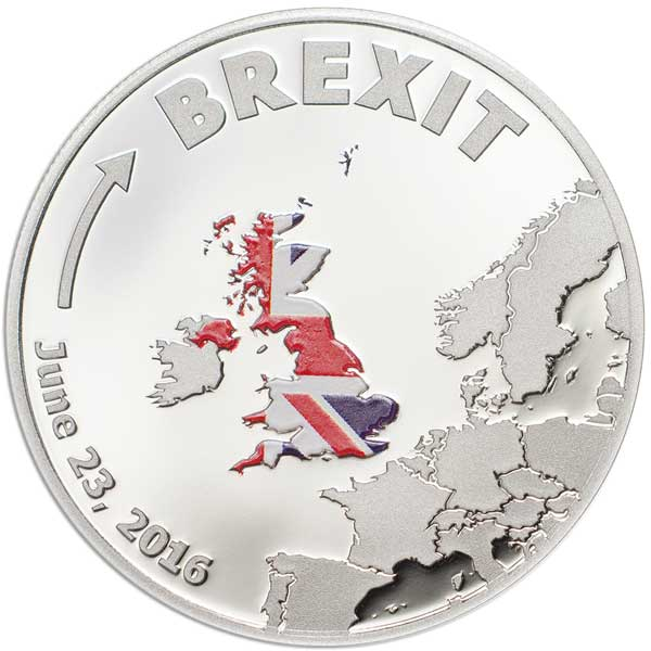 CIT 2016 BREXIT 3.09g 999 Silver Proof Coin