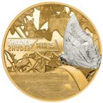 CIT 2015 Shades of Nature Butterfly 25g Gilded Silver Coin