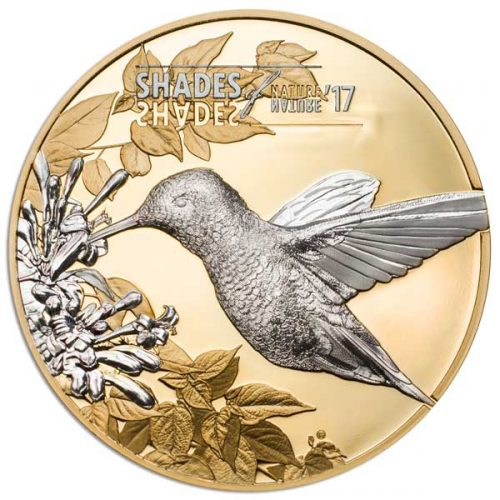CIT 2017 Shades of Nature Hummingbird 25g Gilded Silver Coin