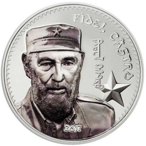 CIT 2017 Fidel Castro 1oz Proof Silver High Relief Coin