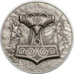 2017 Thor's Hammer - Mjöllnir 2oz Silver Coin