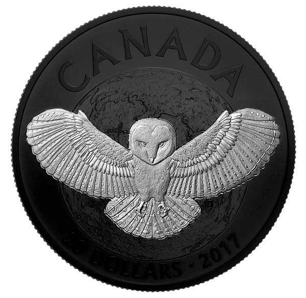 2017 Nocturnal by Nature: The Barn Owl 1oz Silver