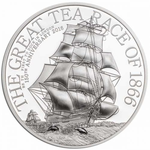 2016 The Great Tea Race 1/2oz Silver High Relief Coin