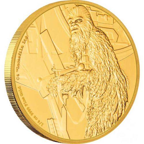 2017 Star Wars Classic Chewbacca 1/4oz Gold
