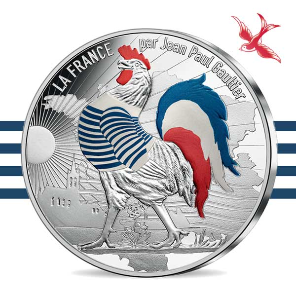 France by Jean Paul Gaultier 2017 50€ silver coin Marinière