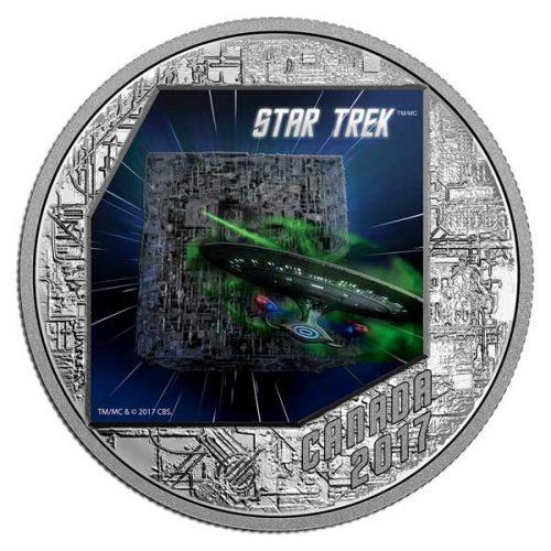 Star Trek The Borg 1 oz Pure Silver Coloured Coin