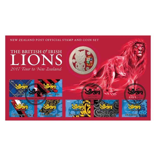 The British and Irish Lions 2017 Tour to New Zealand Stamp and Coin Set