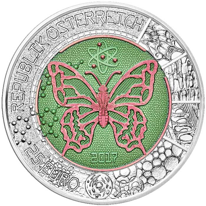 2017 Silver Niobium Coin - The Microcosm