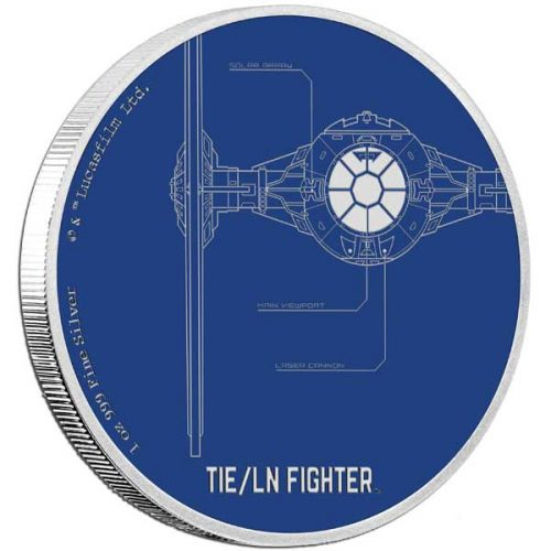 2017 Star Wars: TIE/LN Fighter 1oz Silver Proof Coin