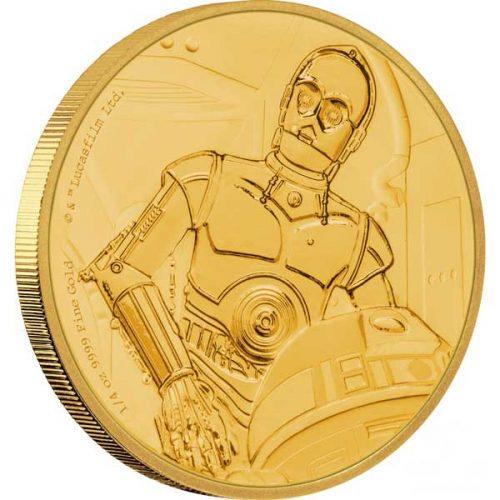 2017 Star Wars Classic C-3PO 1/4oz Gold