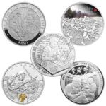 5 Coin International First World War Silver Set