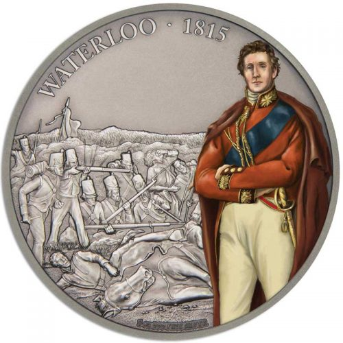 Battles that Changed History: Waterloo 2017 Nuie 1oz Silver