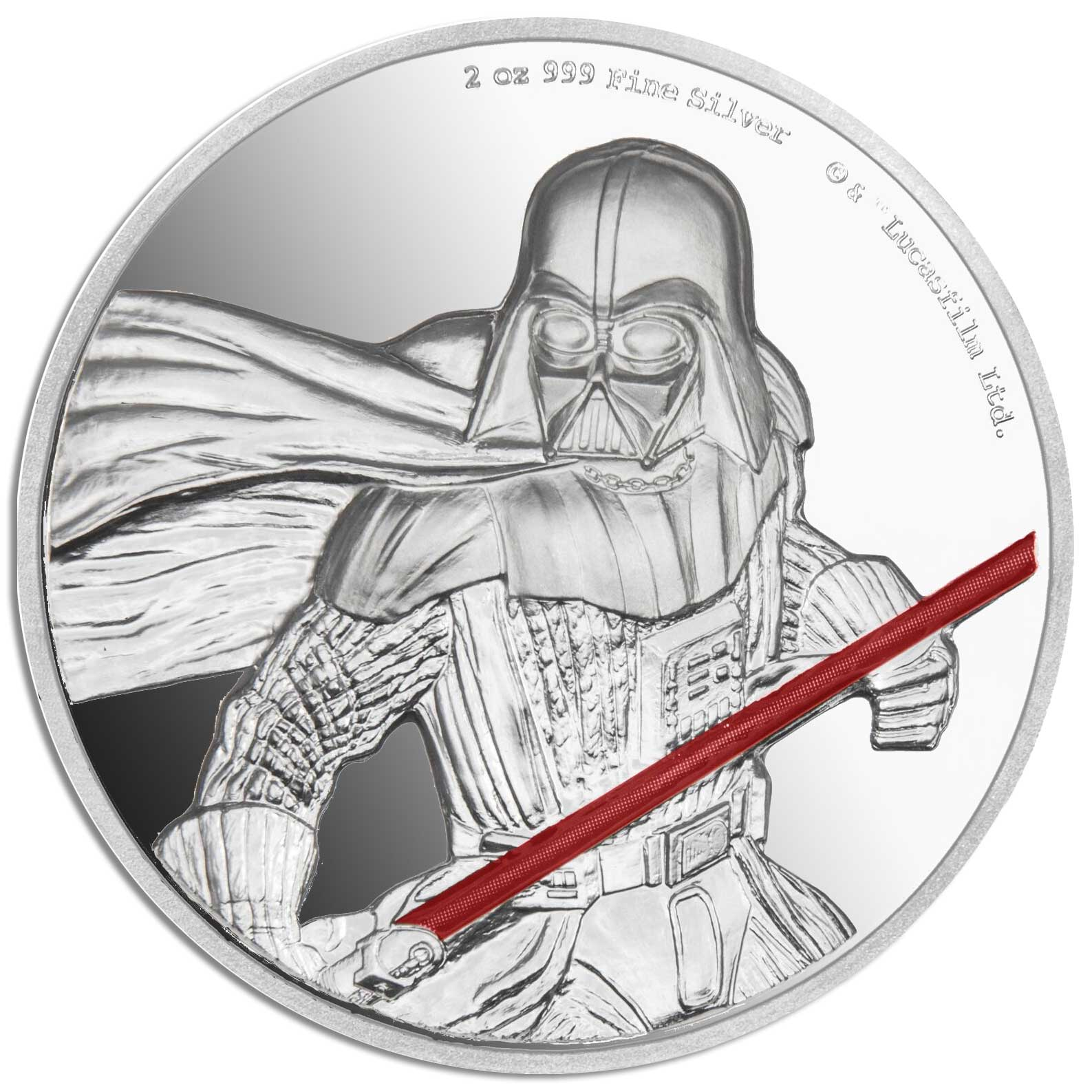Star Wars Darth Vader 2017 Niue High Relief 2oz Silver