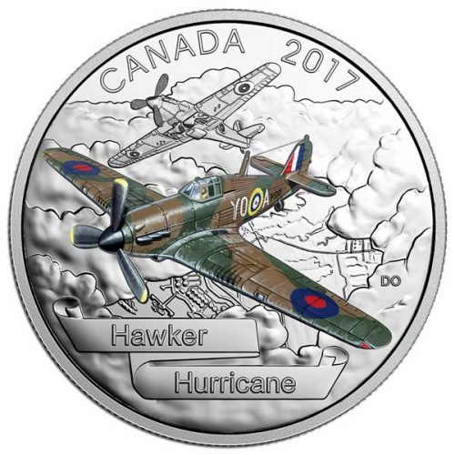 2017 Aircraft of the Second World War Hawker Hurricane 1oz Silver