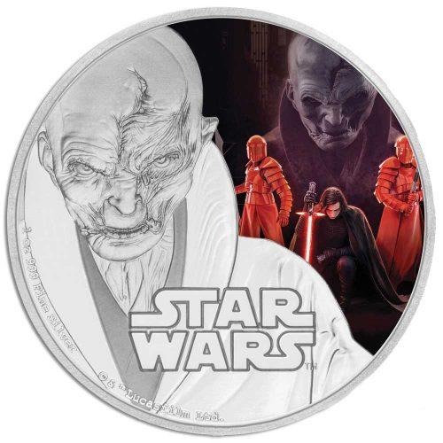 2017 Star Wars: The Last Jedi - Supreme Leader Snoke 1oz Silver Coin