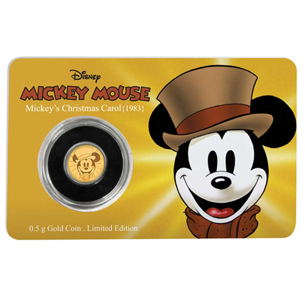 Mickey Through the Ages: Mickey's Christmas Carol 2017 Niue 0.5g Gold
