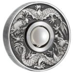 Dragon & Pearl 2017 1oz Silver Antiqued $2 Tuvalu