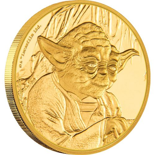 2017 Star Wars Classic Yoda 1/4oz Gold
