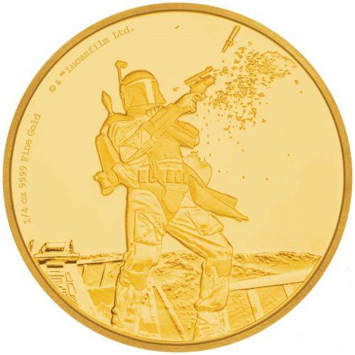 2017 Star Wars Classic Boba Fett 1/4oz Gold Proof Coin