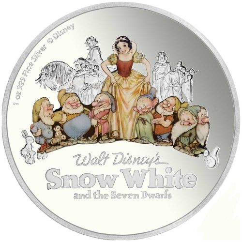 Snow White and the Seven Dwarfs 2017 Niue Proof Silver