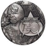 Star Trek: The Next Generation Lieutenant Commander Worf 2017 2oz Antiqued Silver