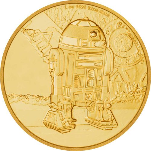 2017 Star Wars Classic R2-D2 1oz Gold