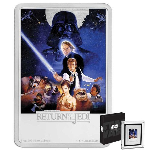 2017 Star Wars Poster Collection - Return of the Jedi 1oz Silver Coin